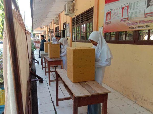 Pemilihan OSIM MAN 1 Aceh Utara Secara Demokrasi